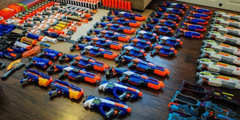 nerf wars battle at batle archery brampton toronto