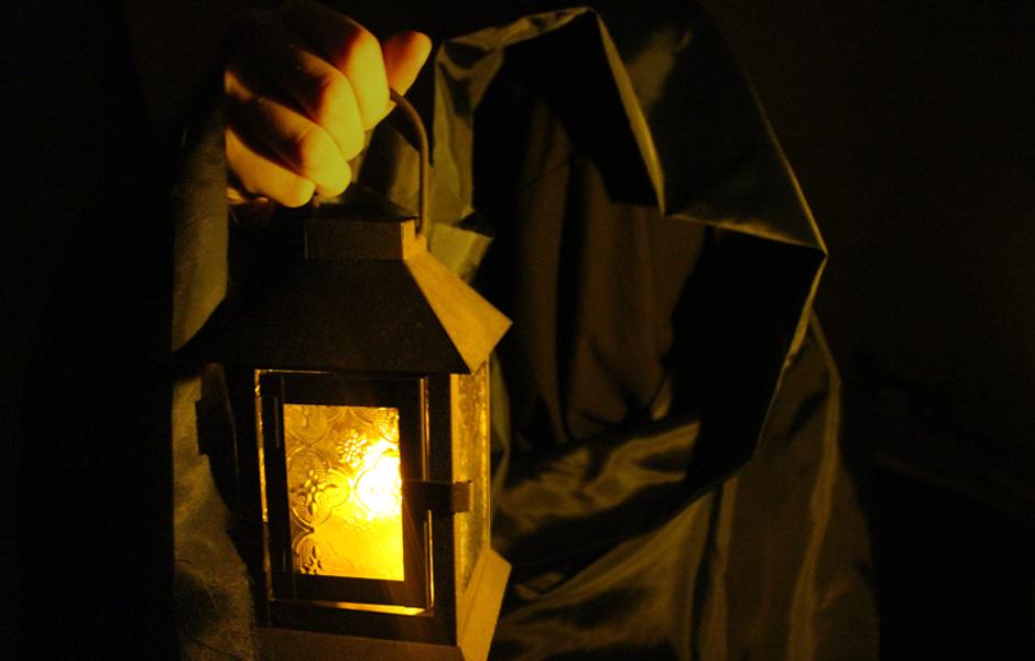 midnight escape room darkness and lantern