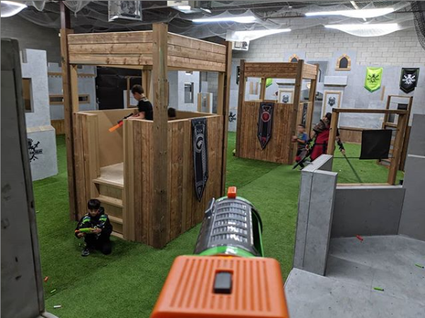 nerf venue for kids birthday party