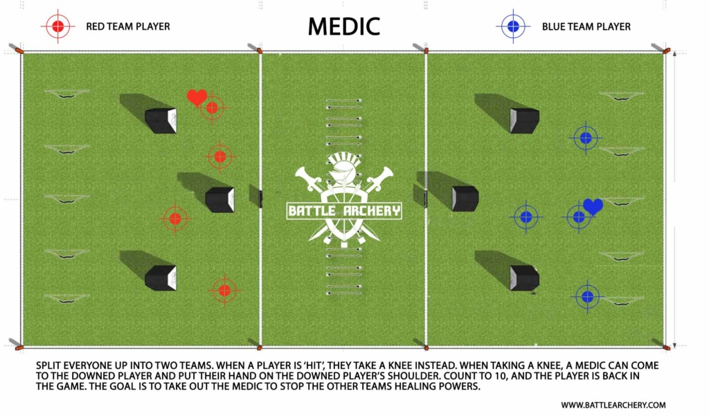 archery tag game rules for medic