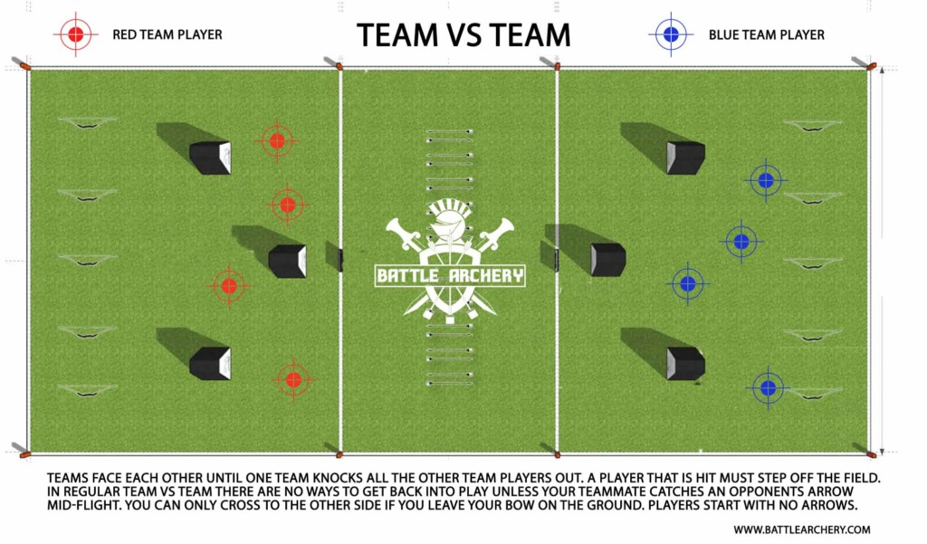 archery tag game mode team vs team