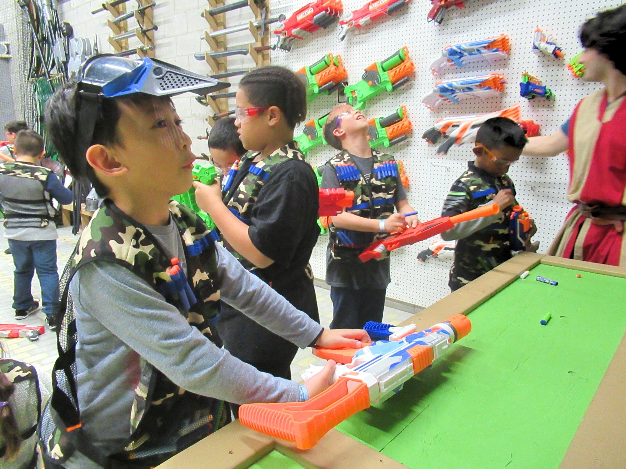 nerf wars private birthday party