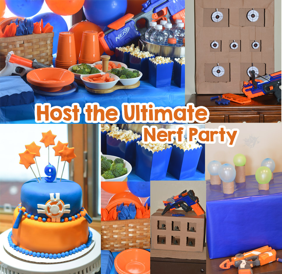 nerf party food and decorations