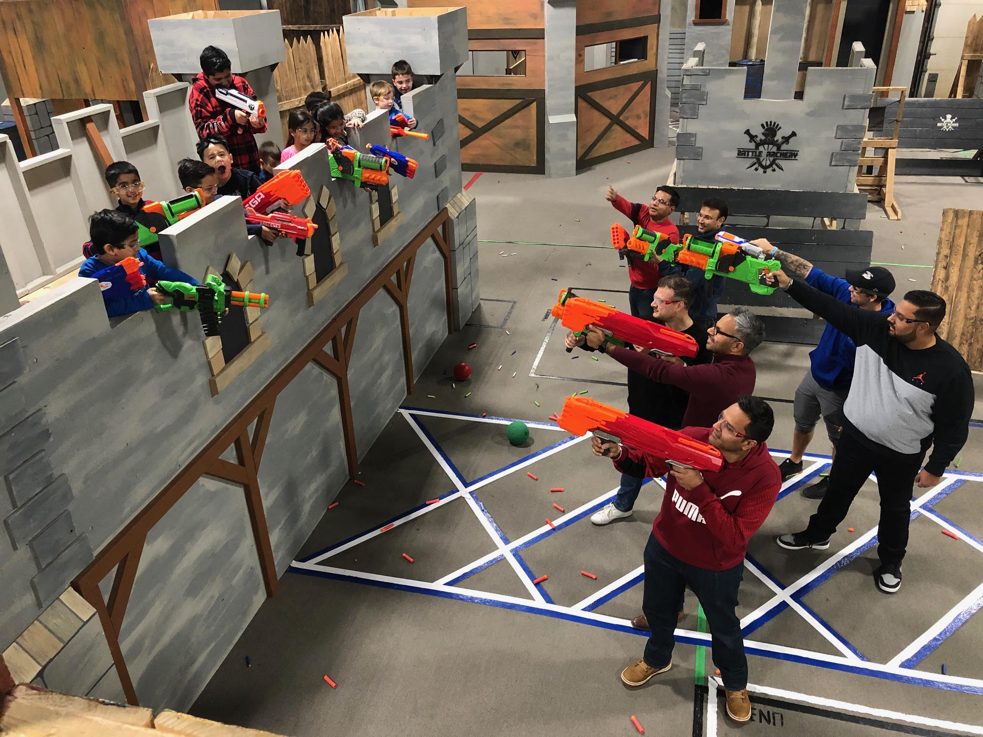 kids on bridge shoot adults