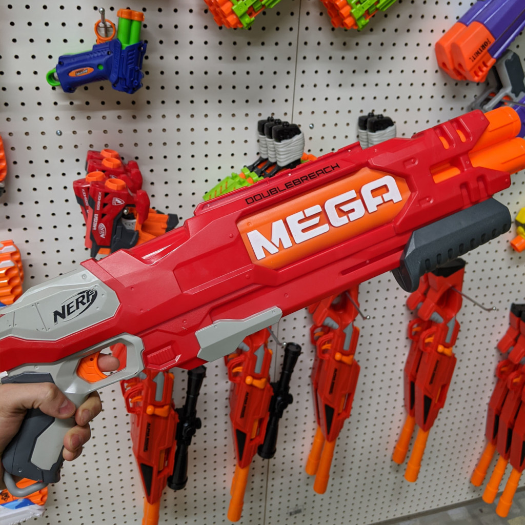 nerf zone double breach mega nerf gun