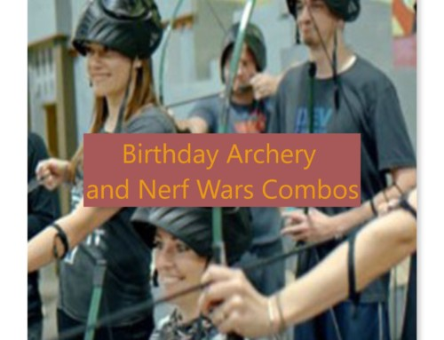 Birthday Archery and Nerf Wars Combo