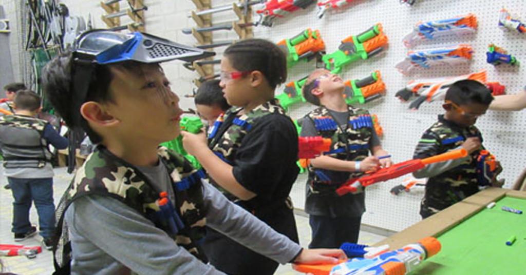 nerf kids birthday party at battle archery